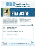 Stay Active:  living well with osteoarthritis