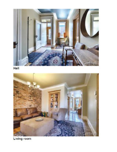 3 bedroom condo in Mile End Outremont July 1st with new Kitchen!