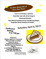 Castleton United Church Roast Beef Dinner Fundraiser