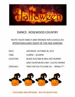 HALLOWEEN DANCE WITH ROSEWOOD COUNTRY IN ORONO