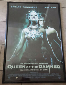 "Movie Poster ""Queen of the Damned"" framed"