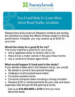 Research Participants Needed for Traffic Accident Study!! $$!!