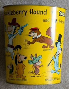 Vintage Quick Draw McGraw Garbage Can