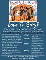 Shout Sister Waterloo Afternoon is Welcoming New Members!