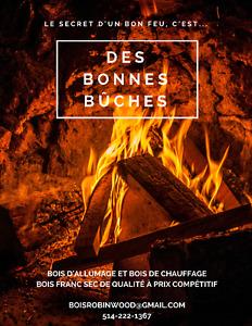 Bois de chauffage & bois d'allumage - Bon feu --> bonnes bûches