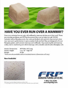 Hollow Rocks - Fiberglass Manway Covers
