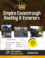 Eavestroughs, Roofs Siding & Exteriors