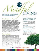 Mindful LIving; 8 week course in Stress Reduction starts March