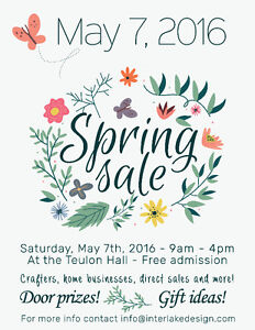 Spring Craft and Home Business Sale In Teulon!