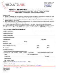 TestItToday.ca - Test for Asbestos - DIY mail-in test Cornwall Ontario image 2