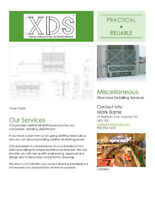 Miscellaneous Metal shop/fabrication drawing services.