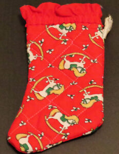 Christmas Stocking Vintage 7 inches X 4 inches at the toe and 3