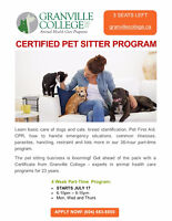 GRANVILLE COLLEGE CERTIFIED PET SITTER COURSE
