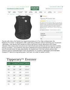 equestrian tipperary body vest