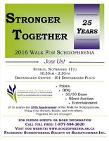 25th Anniversary Walk for Schizophrenia - Stronger Together