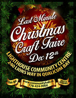 LAST MINUTE CHRISTMAS CRAFT FAIRE - Dec 12th