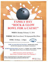 Family Day Rock & Glow Bowl for a Cause
