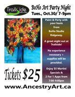 Paint & Party at Trailside - BoHo Art Party Night