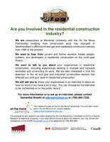 Are you involved in residential construction?