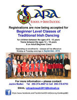 Tara School of Irish Dancing - Beginner Level Classes, Sept 2015
