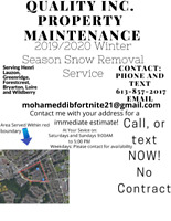 Doing Snow removal in Orleans. Get in contact with me for more i
