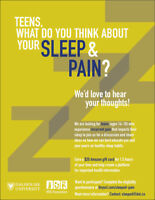 WANTED: Teens for online focus groups about sleep & pain