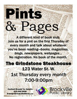 PINTS & PAGES@THE GRINDSTONE STEAKHOUSE w/BPL
