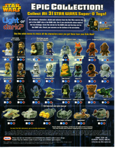 Star Wars Revenge Of The Sith Burger King Toy Set. Complete