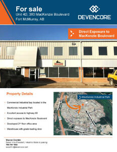 Industrial Condo for Sale in MacKenzie Industrial Park