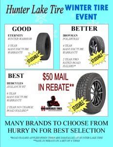 WINTER TIRE SALE WITH REBATES UP TO $100.00 WHEN BUYING 4