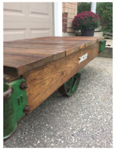 Industrial Factory Cart Coffee Table--make me an offer