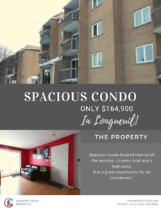 Spacious Condo in Longueuil - For sale