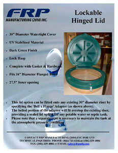 Hinged, Locking Lids for Septic Tanks & Cisterns