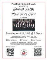 Toronto Welsh Male Voice Choir at Port Elgin United Church