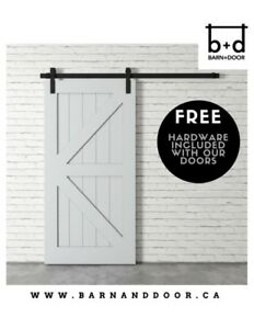 WHOLESALE PRICING - Beautiful Barn Doors - Showroom Available