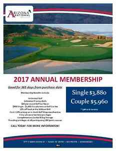 Unlimited golf and power cart for one year in Tucson at AZ NTL