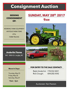 Seeking Consignment Items for Farm Auction in Langley