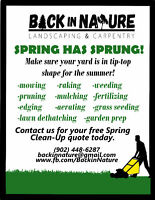 Landscaping, Carpentry and Spring clean-ups