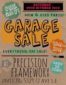 Motorcycle Parts Garage Sale This Saturday Only