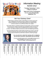 Shout Sister Choir - NEW Norfolk Chapter Information Session