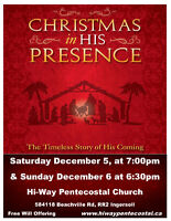 Christmas In His Presence - A musical at Hi-Way Church Ingersoll