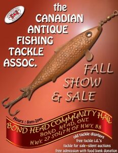 CAFTA's fall vintage and used fishing tacke show & sale sept 24
