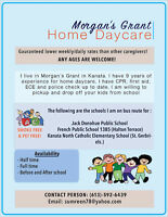 Home Daycare care in Morgan's Grant Kanata.