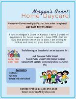 Home Daycare care in Morgan's Grant Kanata.