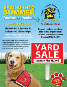 HUGE Fundraising Yard Sale for SERVICE DOGS!