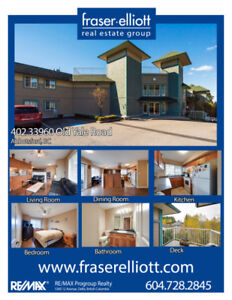 South-west facing corner unit in Abbotsford!