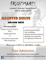 Frightmares Home Haunt and Food drive