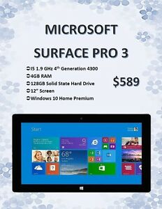 Microsoft Surface Pro 3 w/ Windows 10 - Only $589!
