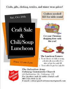 Craft Sale & Chili/Soup Lunch