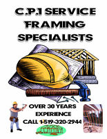 Framing Crew Available.